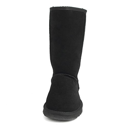 Classic Boots Calf Leather Black Resistant AUSLAND Women's Water Snow Mid 5125 f15 TxSFtxq8wf