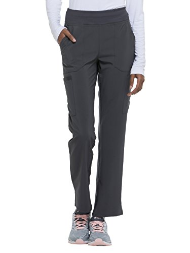 Women's EDS Essentials Natural Rise Tapered Leg Pull-On Scrub Pants Dickies Wide Waistband Pant