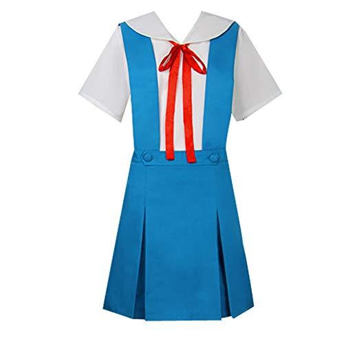 AGLAYOUPIN Anime Asuka Langley Soryu Cosplay Costume School Uniform Blue
