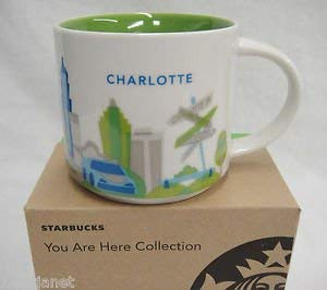 - Starbucks Charlotte You Are Here Collection Series Ceramic Coffee Mug