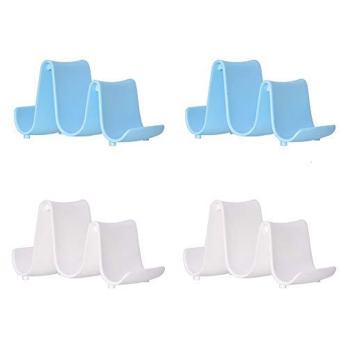 Lid Holder, 4 Pack Pot Pan Lid Stand Organizer Spoon Rest Rack Wave Shape Utensil Holders Random Color