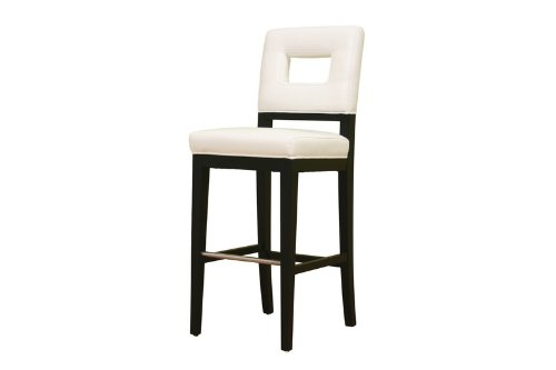 - Baxton Studio Isa Cream Leather Barstool