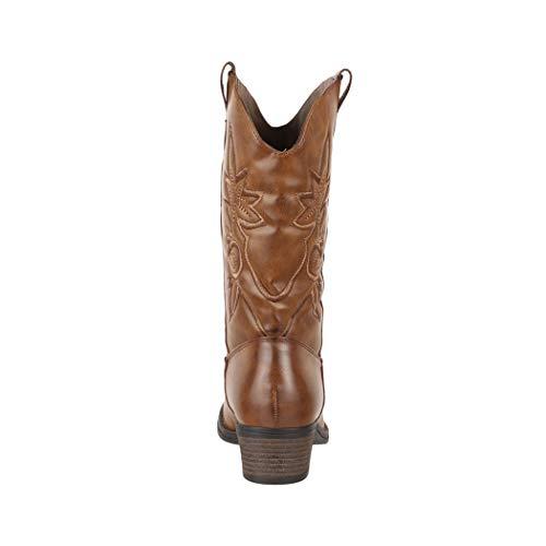 Pour Bottes Doublure Femmes Elara Bloc Chunkyrayan Cowboy Talon Cuir Texas Confortables Fermeture Éclair Aspect Bottines Khaki HWU7HrS