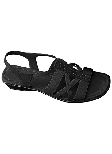 - AngelSteps Women's Adult Malibu Sandal Synthetic 9 Wide US Women/Black
