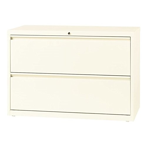 Office Dimensions Commercial 2-Drawer Lateral File with Full Width Pull, 42-Inch Wide - Cloud by Office Dimensions