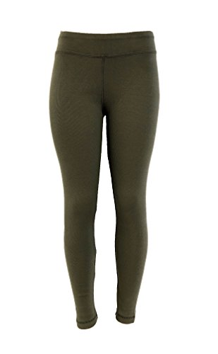 Cotton Rib Leggings - Cotton Spandex Rib Knit Legging Pant (Large, Light City Sage)