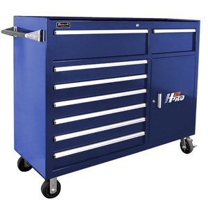 (Homak H2PRO Series 56-Inch 8-Drawer with 2-Drawer Compartment Roller, Blue, BL04056082)