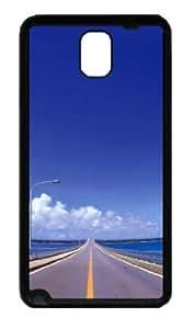 Samsung Galaxy Note 3 N9000 Case,Samsung Galaxy Note 3 N9000 Cases - Blue skies and road TPU Custom Samsung Galaxy...