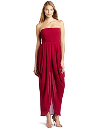 Cynthia Vincent Strapless Drape Dress