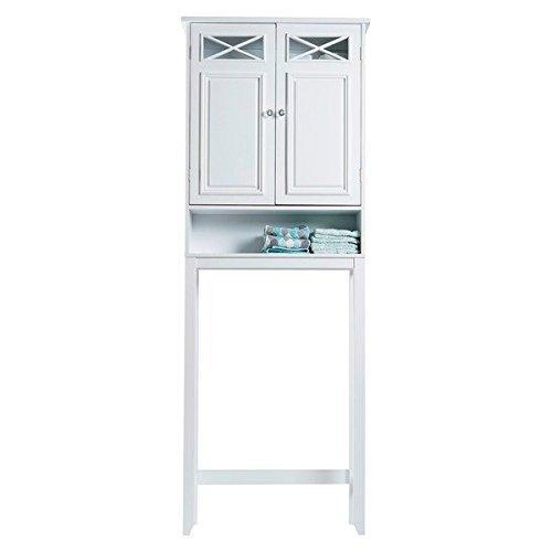 Elegant Home Fashions Beautiful White Virgo Bathroom Space Saver by Elegant Home Fashions