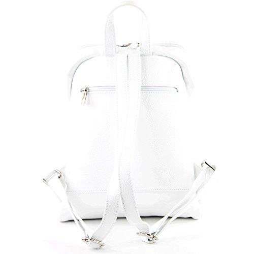 à Citybag cuir à Weiß dos dos sac dames à dos sac en Sac en cuir sac T138 q7wYWC6