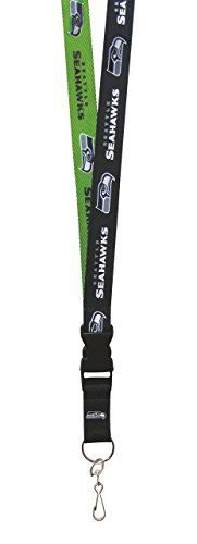 NFL Seattle Seahawks Two Tone Lanyard, Navy/Green, One (Seattle Seahawks Nfl Lanyard)