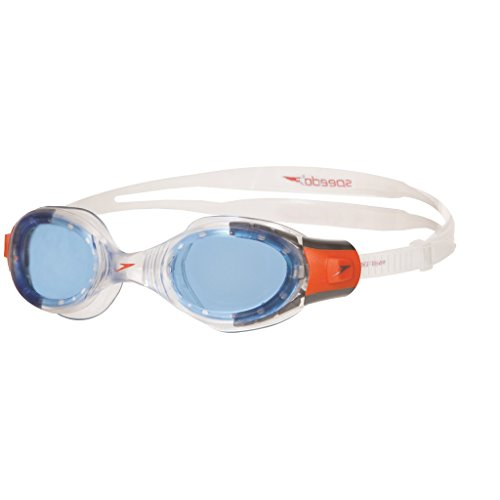 Speedo Unisex Kids Futura Biofuse Goggles, Clear/Blue, 6-14 years