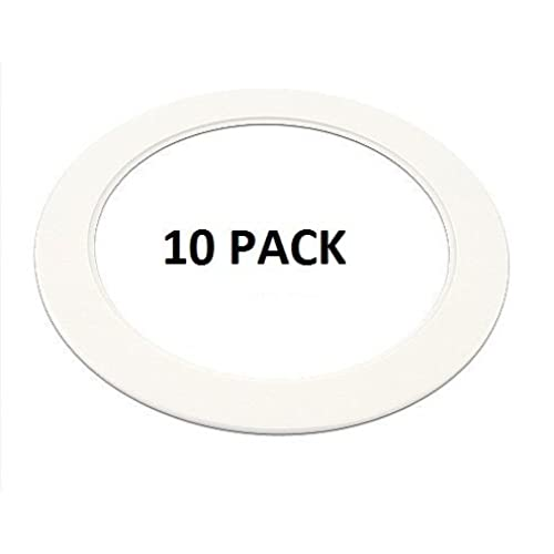 """10 Pack-White Light Trim Ring Recessed Can 6"""" Inch Over Size Oversized Lighting Fixture"""
