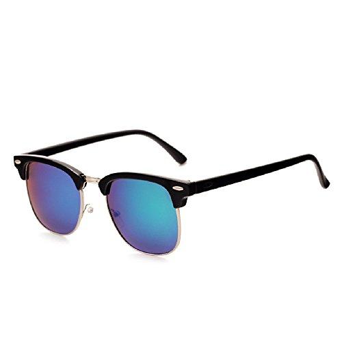 de retro Gafas Oro Unisex vintage de 100 80 Lente UV400 Shades Verde Protection Fashion Driving Negro Marco sol años los Polarized 4dggq