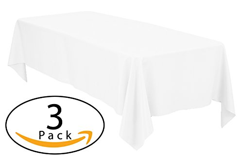 Minel Disposable Party Table Cloths Rectangular 3 Pack White