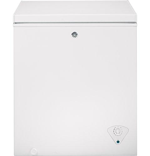 GE 5 Cu. Ft. White Chest Freezer (Chest Freezer Baskets Ge)