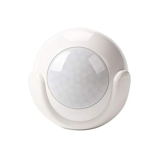 Sensor de Movimiento con Alarma de detecci/ón de Movimiento Wi-Fi PIR Color Blanco