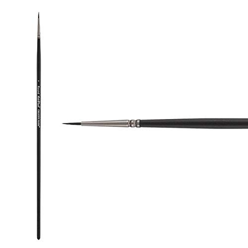 Creative Mark Black Swan Paint Brush Synthetic Red Sable Brushes for Acrylics, Oils, Glazings & Heavy Body Media - Single Brush Only - [Round - Size 1]