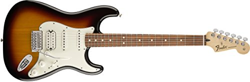 Fender Standard Stratocaster Electric Guitar - HSS - Pau Ferro Fingerboard, Brown - Guitar Deluxe Stratocaster Electric Hss