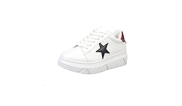 Amazon.com | Feilongzaitianba Canvas Shoes Women Zapatillas Mujer Casual Shoes Flats Lace-up Wedges Platform Shoes Zapatos de Mujer Shoes Woman A67 Red 9 | ...