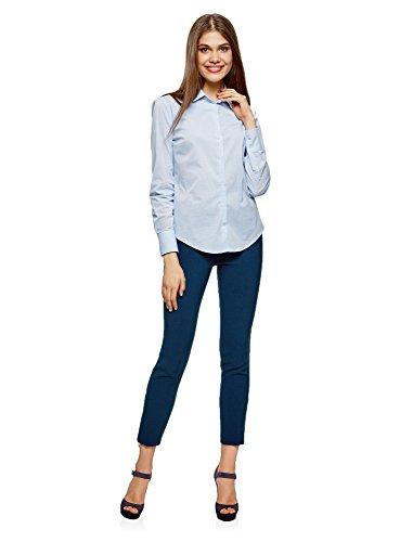 Elasticizzati Donna Ultra 7902n oodji Blu Pantaloni Stretti 8tTngZqAw
