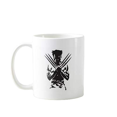 11OZ PREMIUM PORTABLE COFFEE MUGS FUNNY - WOLVERINE - GIFT IDEAL FOR MEN, WOMEN, MOM, DAD, TEACHER, BROTHER OR SISTER #2108