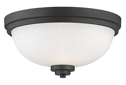 Matte Opal Glass Bowl - 443F2-BRZ Bronze Ashton 2 Light 13