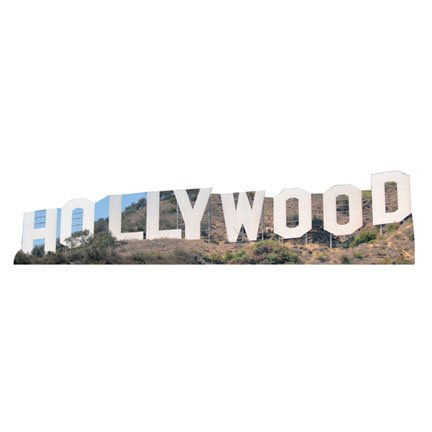 H13011 Hollywood Sign Historic Landmark Cardboard Cutout Famous Building Standee Standup ()