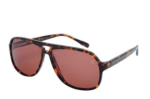 (Platinum Vintage Collection Sunglasses Gradient Leopard Wide Oversized Men)