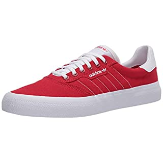 adidas Originals Men's 3MC Regular Fit Lifestyle Skate Inspired Sneakers Shoes, Scarlet/ftwr White/ftwr White, 13 M US
