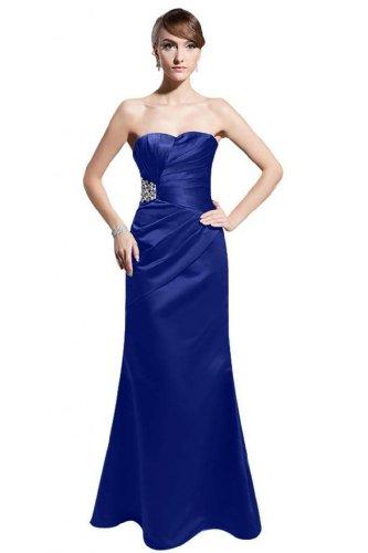 Royal lunghezza Vestiti Taffetà Prom Fidanzata Guaina Delle Pavimento Colonna Blu Dearta Donne wqfgxwPUa