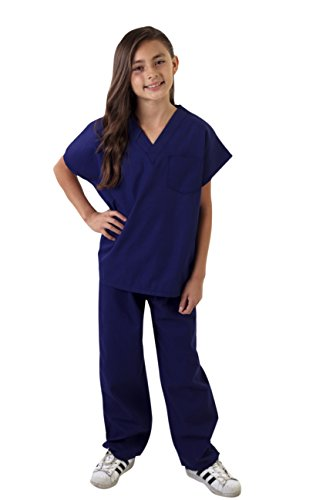 Natural Uniforms Childrens Scrub Set-Soft Touch (5/6, True Navy Blue) for $<!--$9.99-->