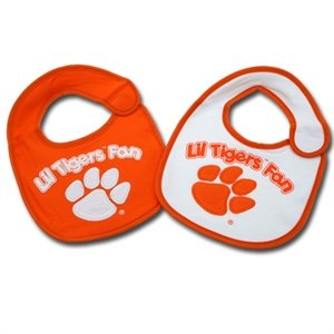 (Jenkins Enterprises Clemson Tigers Team Logo Baby Bibs - 2 Pack)