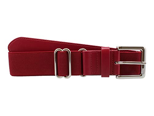 (MadSportsStuff Performance Baseball Softball Belt (Adult, Cardinal))