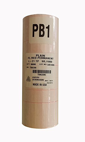 Sato PB-1 Fl. Red Labels for PB-105 or PB-106 (9000/sleeve)