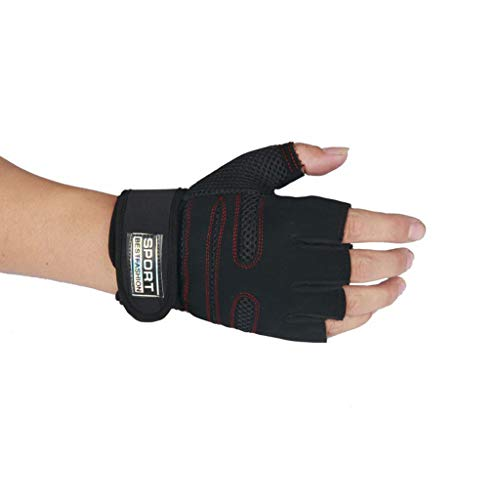 RTYou Padded Weight Lifting Gloves Gym Gloves Workout Gloves Wrist Wraps Support Exercise Gloves for Powerlifting Cross Training for Men & Women 【Ship from USA 】 -