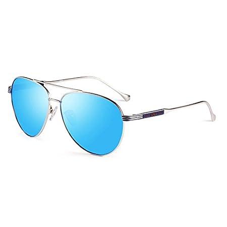 Sonnenbrille Green Gradient Polarized Light Anti-UV-Sonnenbrille Drive Anti Blendung ( farbe : Blau ) p87gN