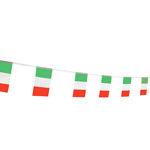 LoveVC Italy Flag, 100 Feet Italian Flag National Country World Pennant Flags Banners,Party Decorations for World Cup,Olympics,Bar,School Sports Events,International -