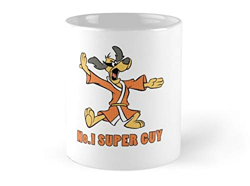 Hued Mia Mug Hong Kong Phooey - number 1 super guy Mug - 11oz Mug - Features wraparound prints - Dishwasher safe - Made from Ceramic - Best gift for family friends (Walmart Coffee Mugs)