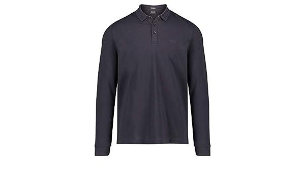 b828e4441 BOSS Men's Long Sleeve Pado 10 Polo Shirt Blue at Amazon Men's Clothing  store: