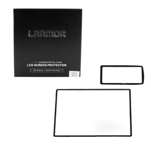LARMOR By GGS 4 Generation Self-adhesive Glass Nikon LCD Screen Protector for Nikon D7100 D7200 Camera