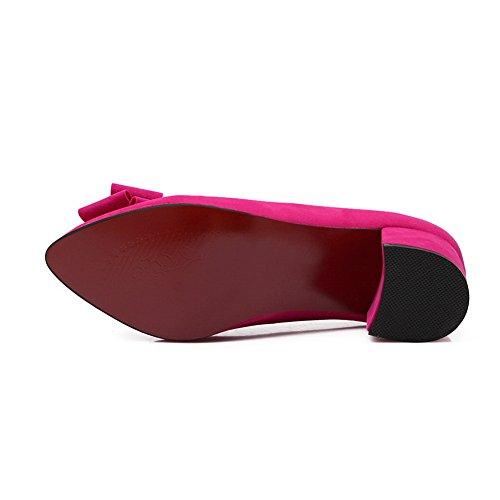 Balamasa Tacco Grosso Donna Archi Scarpe In Microfibra Rosso