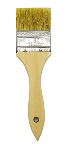 Cambridge 2 Inch Chip Brushes, 12 Pcs. for Paint, Stain, Gesso, Glue, Varnish and Acrylic