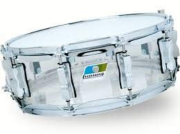 Ludwig Vistalite Series 14x5 Clear Acrylic Snare Drum with Supraphonic Snares (Snare Drum Acrylic)
