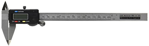 """8"""" (200mm) Digital Calipers With Fine Pointed Jaws"""