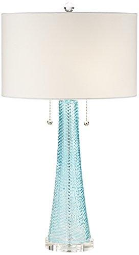 - Possini Euro Miriam Aqua Blue Glass Table Lamp