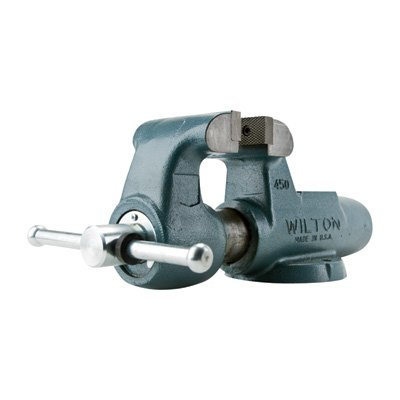 Wilton 10076 400N, Machinists-Feet Bench Vises-Stationary Base, 4-Inch Jaw Width, 6-1/2-Inch Jaw Opening, 3-1/2-Inch Throat Depth ()
