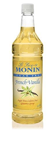 Organic French Vanilla Syrup - Monin Sugar Free, Calorie Free French Vanilla Syrup, 33.8-Ounce Plastic Bottle (1 Liter)