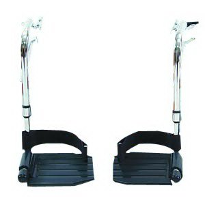 Invacare T93HCP Hemi Footrest with Composite Footplates and Heel Loops, 1 Pair